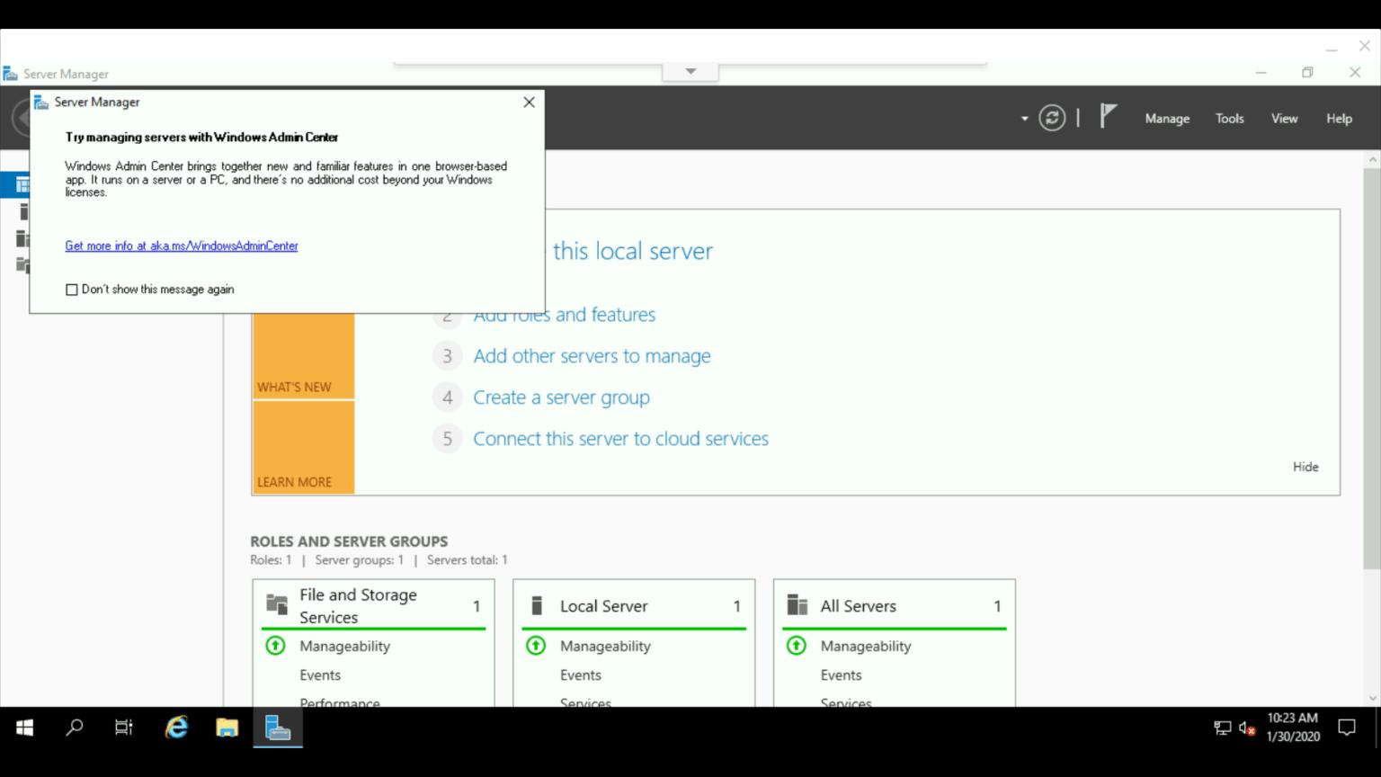Chrome RDP:VM インスタンスのWindows 画面