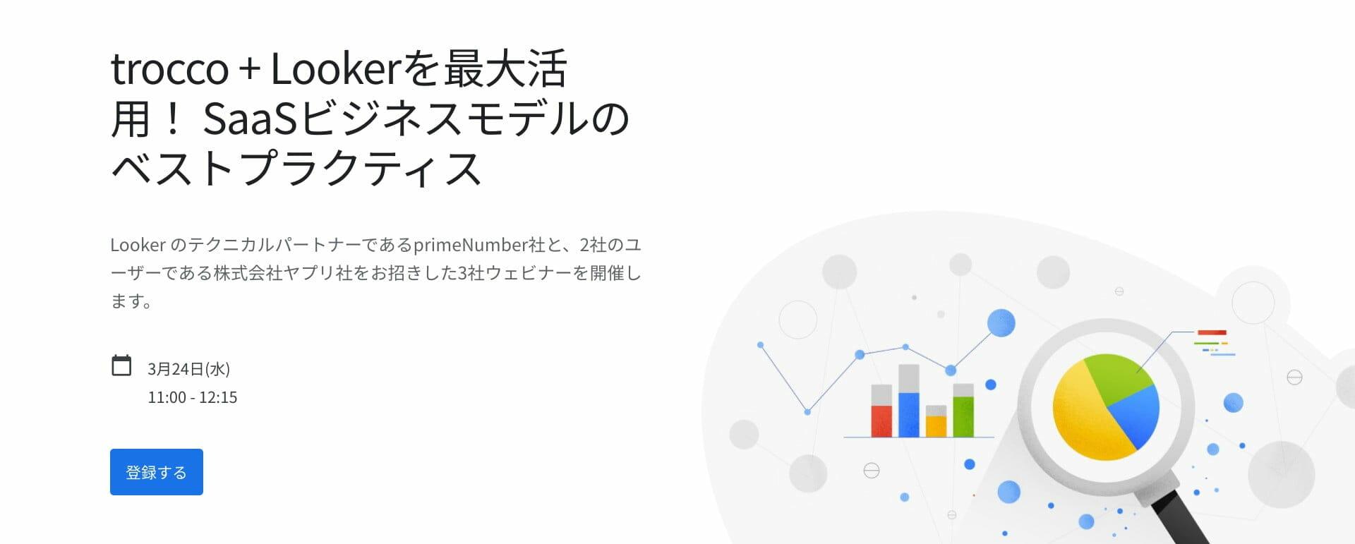 [Looker] trocco + Lookerを最大活用! SaaSビジネスモデルのベストプラクティス