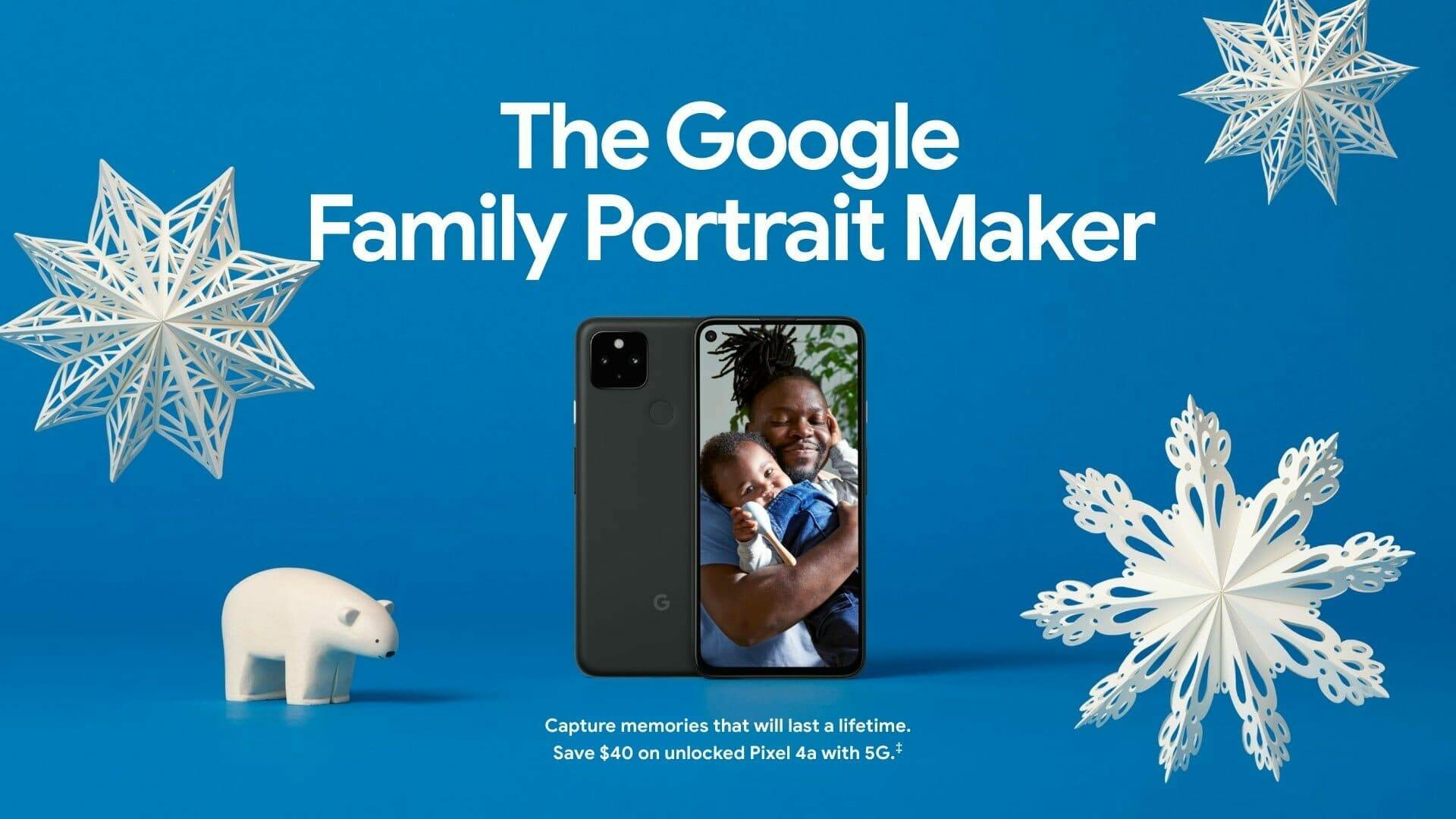 Google ホリデー デザイン:スマートフォン「Google Pixel 4a with 5G」