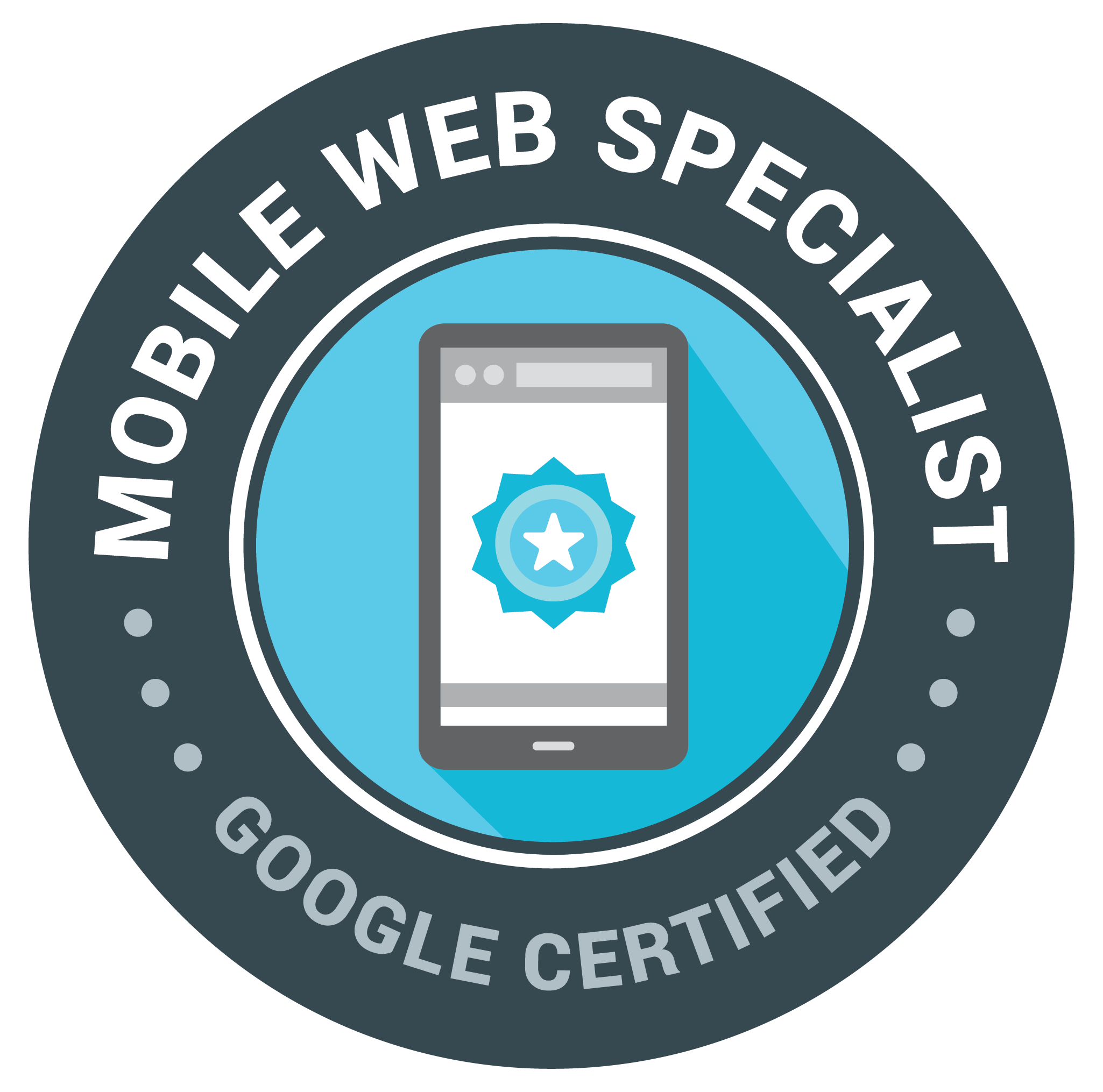 Mobile Web Specialist 認定資格 バッジ