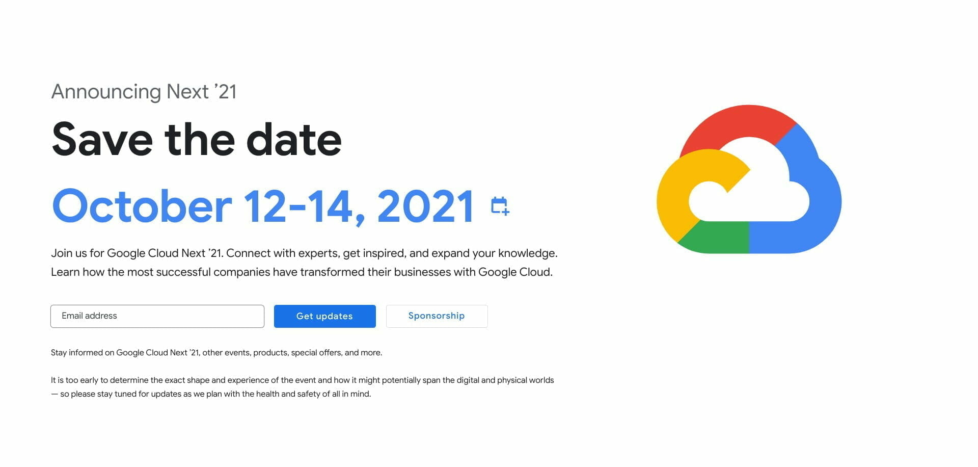 [GCP] Google Cloud next 2021プレ情報