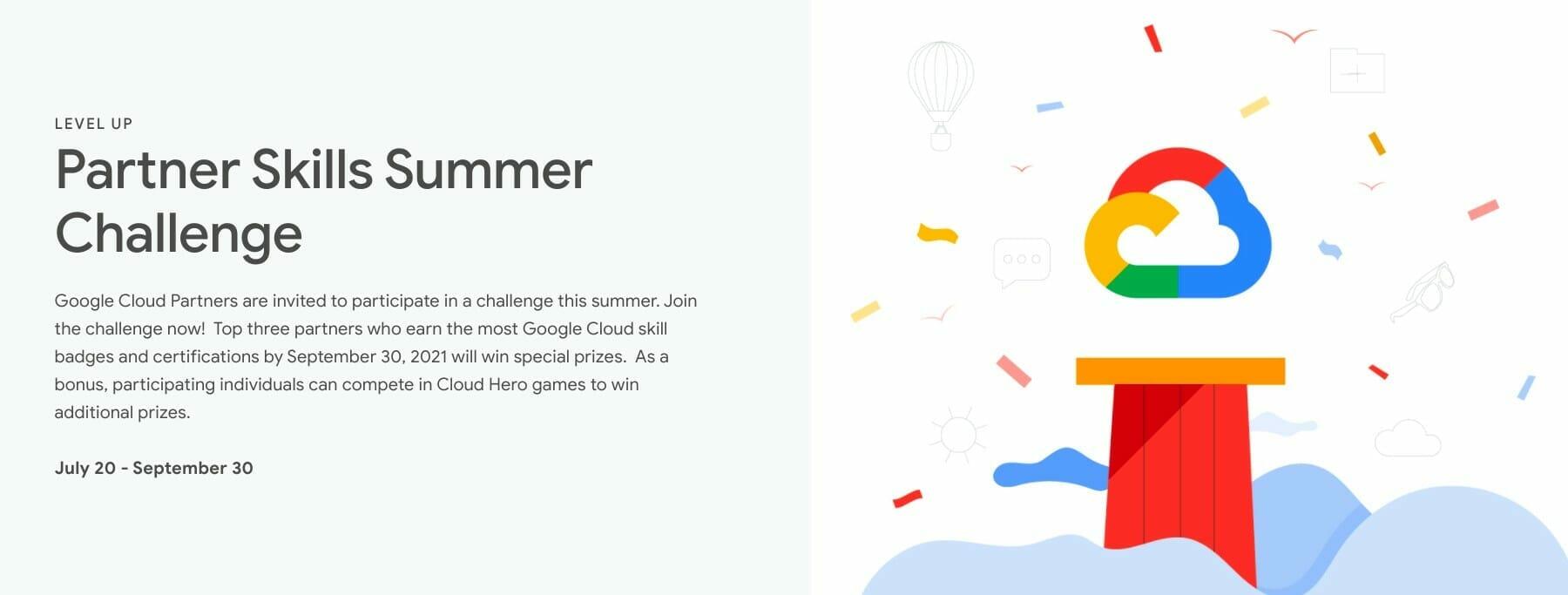 [GCP] Partner Skills Summer Challenge