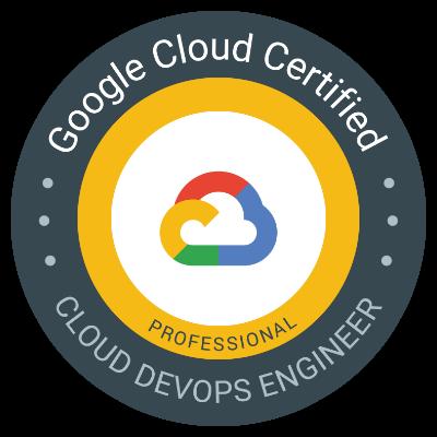 Professional Cloud DevOps Engineer 認定資格 バッジ
