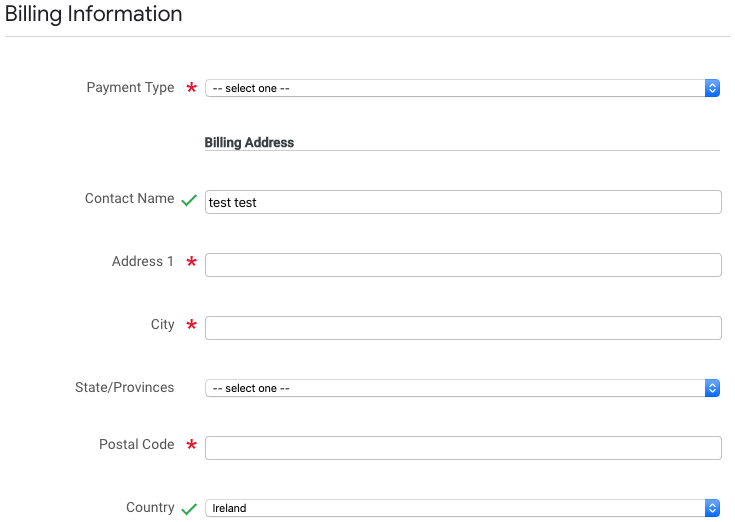 Google Cloud Next Registration:請求情報