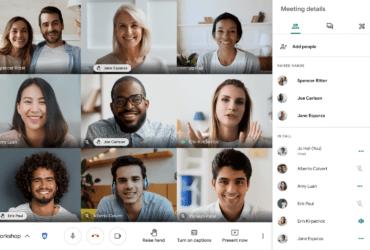 Google Meet で仮想的に挙手しての質問が可能