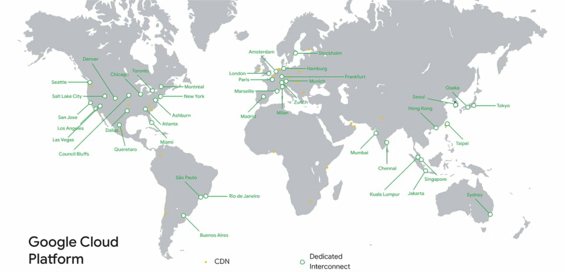 Google Cloud ネットワークのエッジ POPs