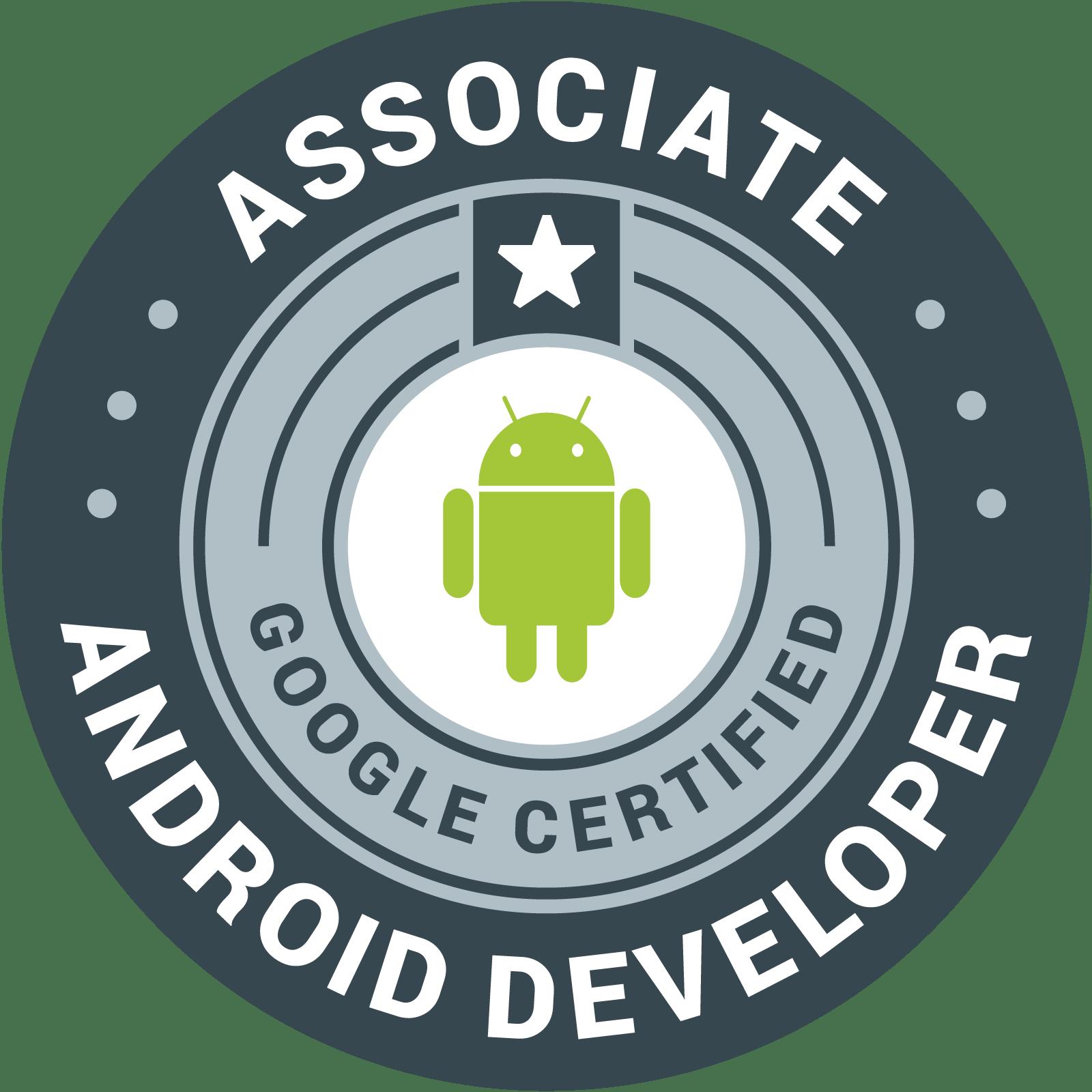 Associate Android Developer 認定資格 バッジ