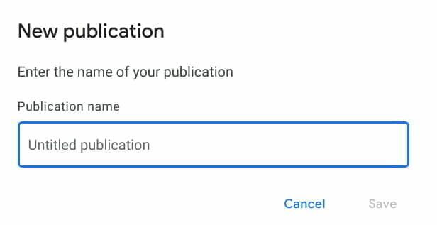 Google パブリッシャー センター:出版名を決める