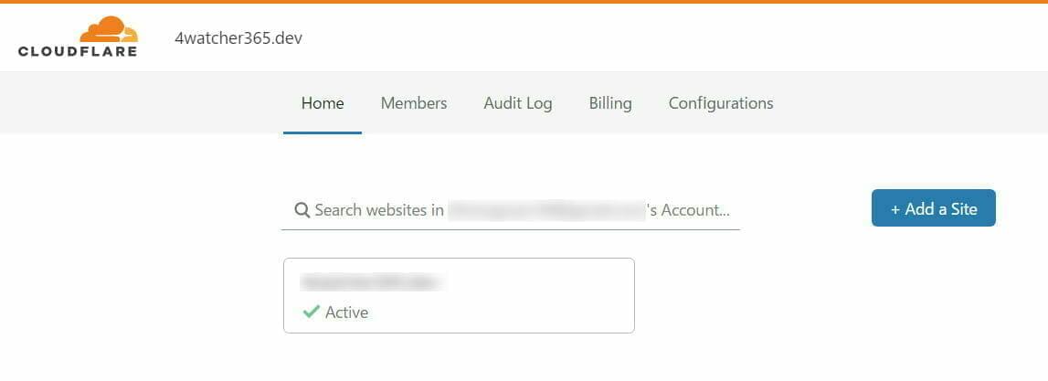 Cloudflare 設定:ドメイン 登録
