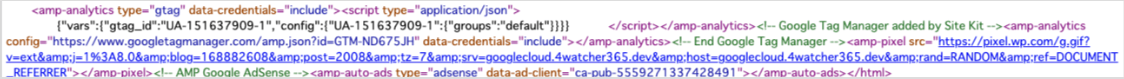 Site Kit:コードを自動記入