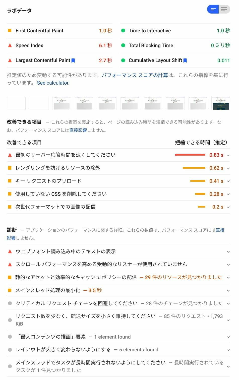PageSpeed Insights: LiteSpeed (PC)