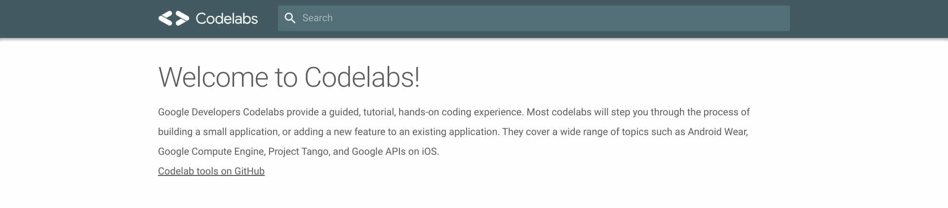 Google Developers Codelabs