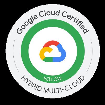 Google Cloud Certified Fellow: Hybrid Multi-cloud 認定資格 バッジ