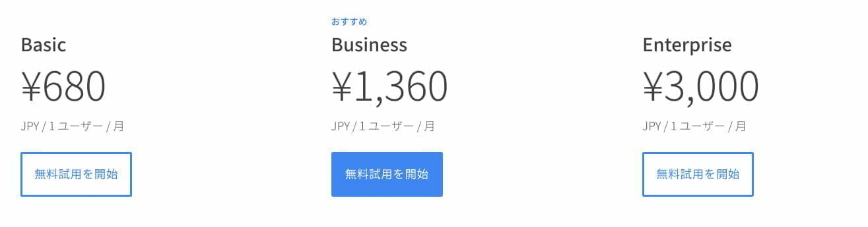 G Suite 料金:日本