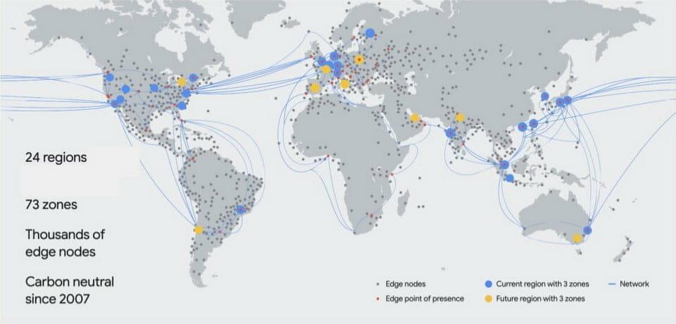 Google Cloud ネットワークのリージョンとゾーン