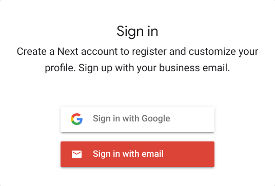 Google Cloud Next Registration:アカウント登録方法