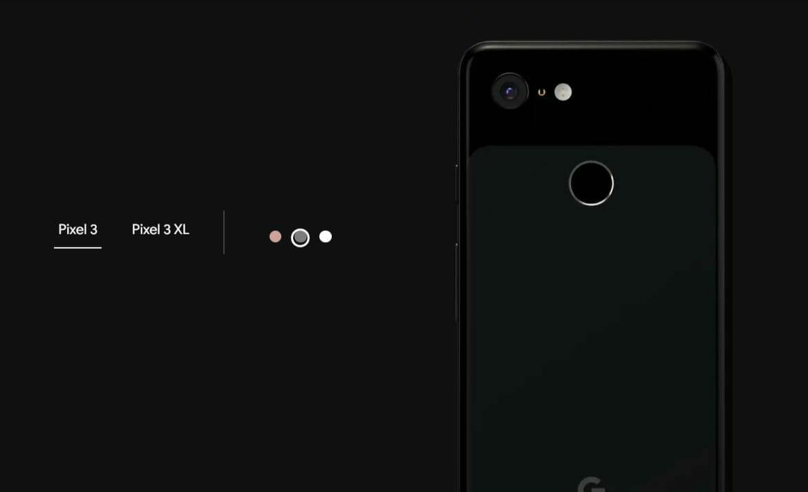 Google Pixel 3 Just Black