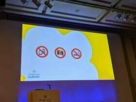 Google Cloud Summit '19 in 大阪 のセッション中は電話/撮影/喫煙 禁止