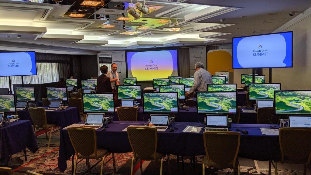 Google Cloud Summit '19 in 大阪 のHands on Lab 会場
