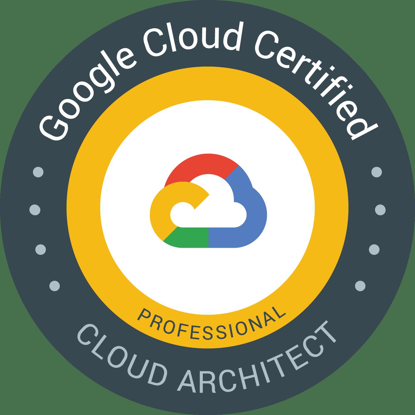 Professional Cloud Architect 認定資格 バッジ