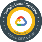 Professional Cloud Developer 認定資格 バッジ