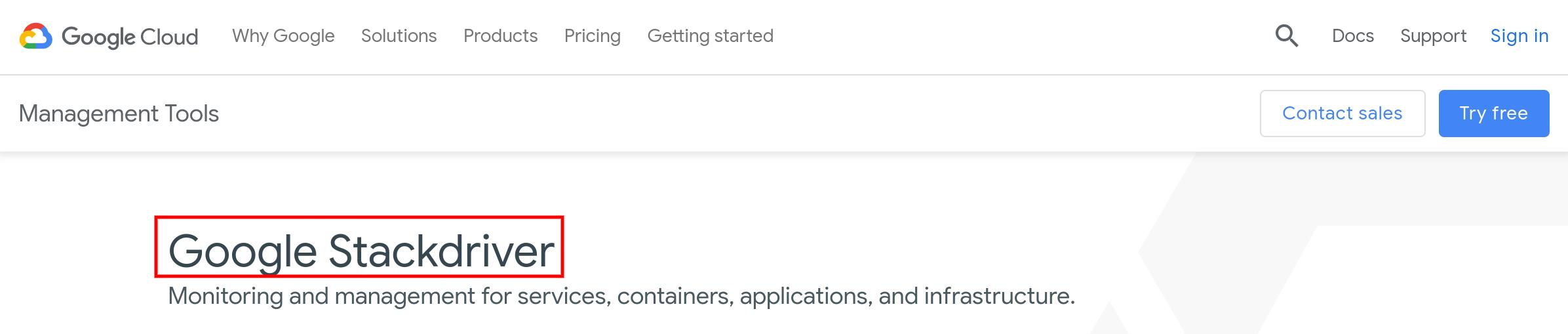Google Cloud Stackdriver