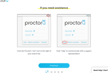 Proctor U: If you need assistance