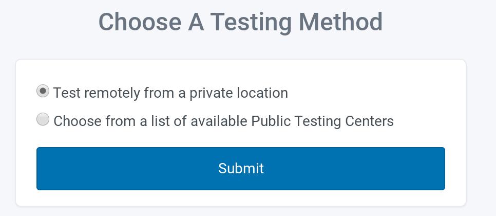 Proctor U: Shoose A Testing Method