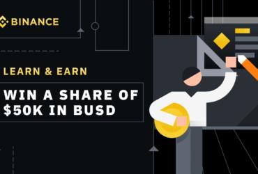 バイナンス 4周年記念コラボレーションの第 2弾 アクティビティ「$50,000 BUSD Giveaway: Binance Learn & Earn」