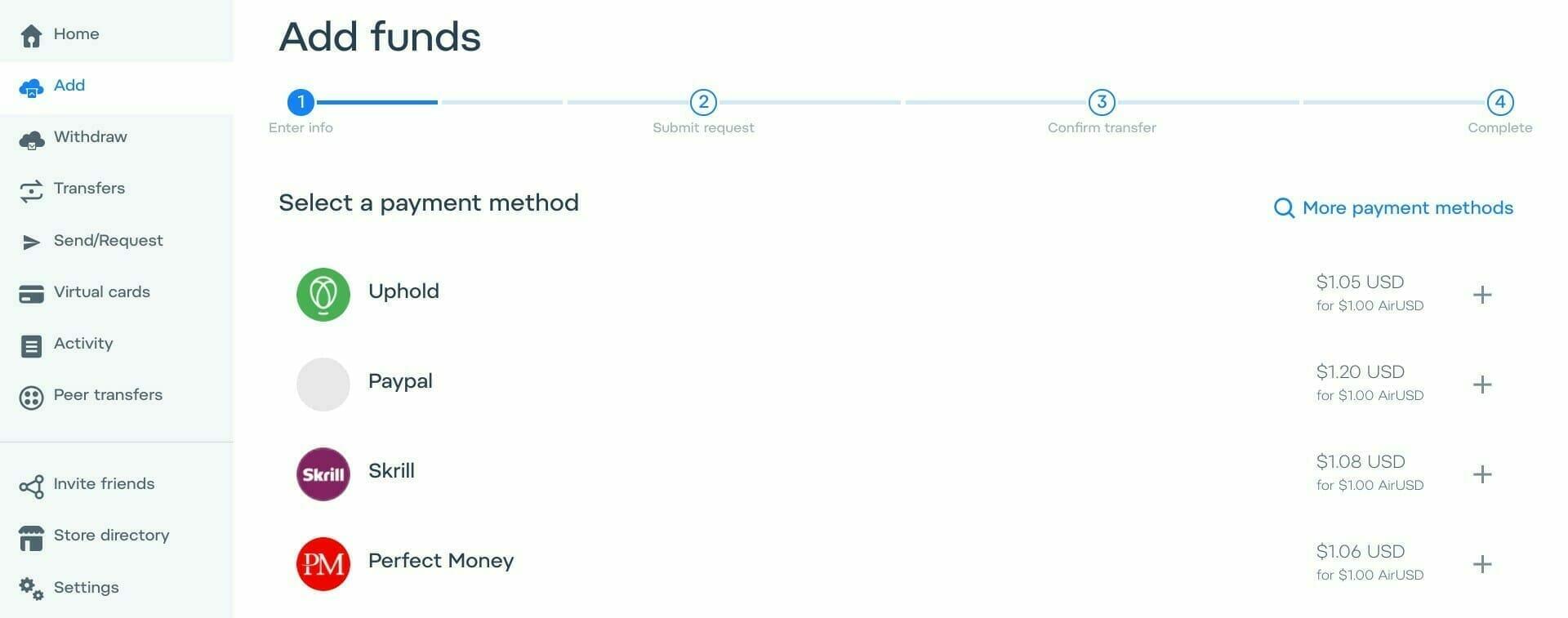 AirTM:AirTM 口座に資金を追加する
