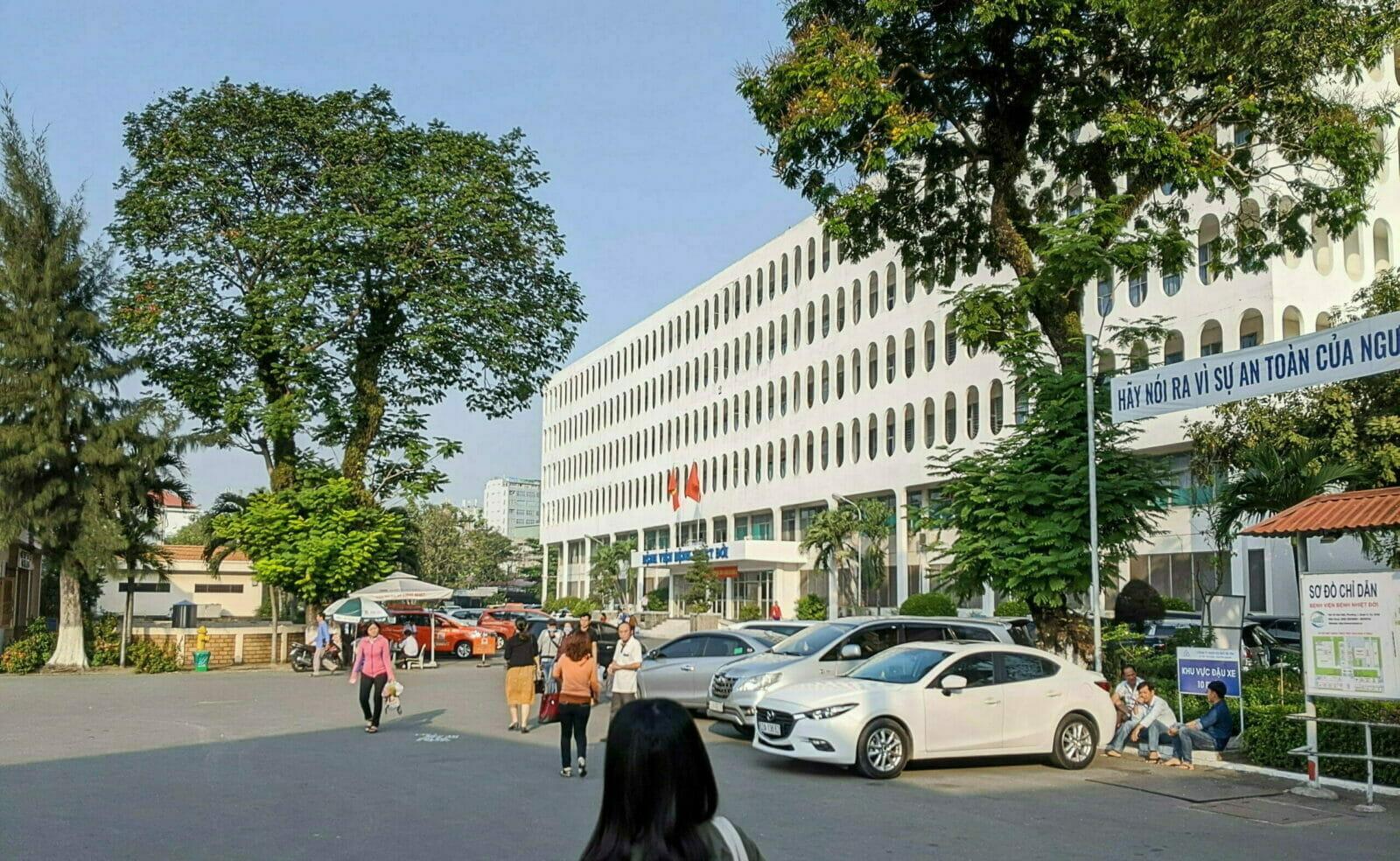 ホーチミン病院:病院の敷地内